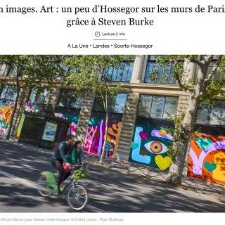Une fresque landaise de 280m2 dans Paris