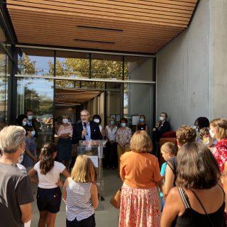 Inauguration de la médiathèque de Soustons