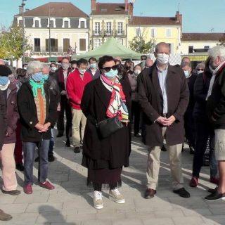 Retour sur le rassemblement initié par le Mrap Landes en hommage à Samuel Paty