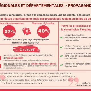 Distribution de la propagande électorale I Commission d'enquête sénatoriale