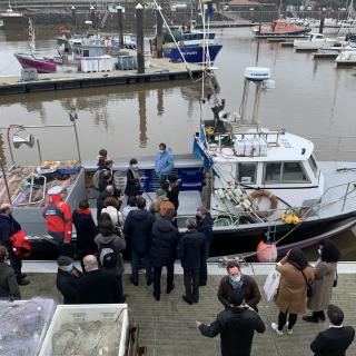 Visite de la ministre de la Mer à Capbreton