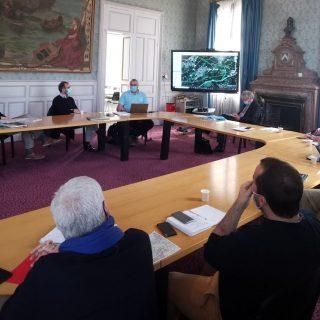 Capbreton I réunion sur le projet RTE avec les maires